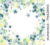 frame of stars. light starry... | Shutterstock .eps vector #796628443