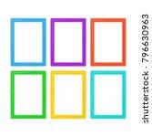 photo frames set in cartoon... | Shutterstock .eps vector #796630963