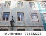 lisbon building traditional... | Shutterstock . vector #796632223