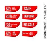 discount label vector template... | Shutterstock .eps vector #796633147