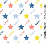 abstract handmade seamless... | Shutterstock .eps vector #796640233