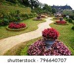 a beautiful landscaped garden... | Shutterstock . vector #796640707
