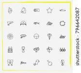 military line icon set shoulder ... | Shutterstock .eps vector #796642087