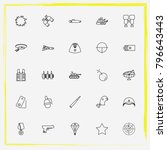 military line icon set military ... | Shutterstock .eps vector #796643443