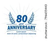80 years anniversary logo.... | Shutterstock .eps vector #796655443