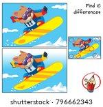 winter sport. snowboarder cat... | Shutterstock .eps vector #796662343