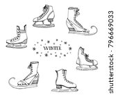 winter sports equipment and... | Shutterstock .eps vector #796669033