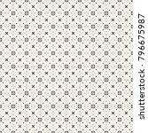 fabric print. geometric pattern ... | Shutterstock . vector #796675987