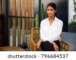 gorgeous mixed race woman...   Shutterstock . vector #796684537