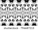 black and white rectangle... | Shutterstock . vector #796687213