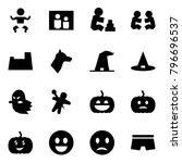 origami style icon set   baby... | Shutterstock .eps vector #796696537