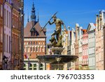 fountain of the neptune in old... | Shutterstock . vector #796703353