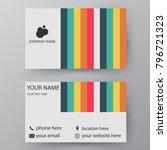 modern presentation card with...   Shutterstock .eps vector #796721323