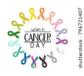 world cancer day text. colorful ...   Shutterstock .eps vector #796721407