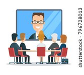 flat business online video...   Shutterstock .eps vector #796728013
