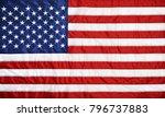 closeup background of american... | Shutterstock . vector #796737883