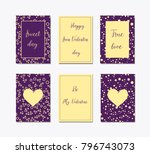 decorative greeting cards for... | Shutterstock .eps vector #796743073