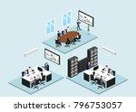isometric 3d illustration set... | Shutterstock . vector #796753057