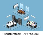 isometric 3d illustration set... | Shutterstock . vector #796756603