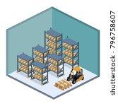isometric 3d illustration... | Shutterstock . vector #796758607