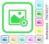 image settings vivid colored... | Shutterstock .eps vector #796765177
