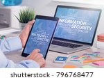 information security concept... | Shutterstock . vector #796768477