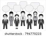 chibi style illustrations of a... | Shutterstock .eps vector #796770223