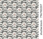 fashion pattern with dont cry... | Shutterstock .eps vector #796783207