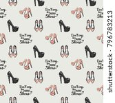 fashion pattern with dont cry... | Shutterstock .eps vector #796783213