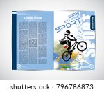 magazine layout  easy editable... | Shutterstock .eps vector #796786873