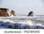 waves at freshwater bay. isle... | Shutterstock . vector #796789393