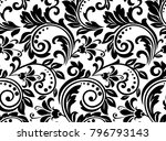 floral pattern. wallpaper... | Shutterstock .eps vector #796793143