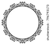 decorative line art frames for... | Shutterstock .eps vector #796793173