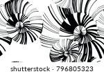 pinstripe sea shell. curl... | Shutterstock .eps vector #796805323