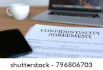 copy of confidentiality... | Shutterstock . vector #796806703