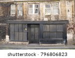 exterior view of an old boarded ...   Shutterstock . vector #796806823