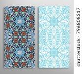 vertical seamless patterns set  ... | Shutterstock .eps vector #796808317