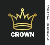 crown royal king vector logo... | Shutterstock .eps vector #796814527