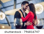 beautiful loving couple is... | Shutterstock . vector #796816747