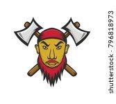 pirate  captain mascot vector... | Shutterstock .eps vector #796818973