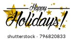 happy holidays  beautiful... | Shutterstock .eps vector #796820833