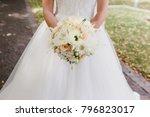 wedding flowers bride bouquet... | Shutterstock . vector #796823017