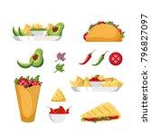 mexican food design | Shutterstock .eps vector #796827097