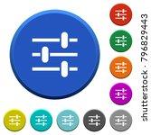 adjustment round color beveled... | Shutterstock .eps vector #796829443