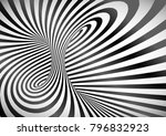 black and white optical... | Shutterstock .eps vector #796832923