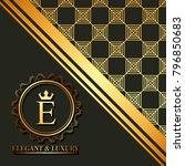 golden geometric initial... | Shutterstock .eps vector #796850683