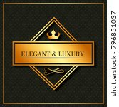 golden elegant and luxury... | Shutterstock .eps vector #796851037