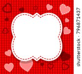 red valentine's day card  blank | Shutterstock .eps vector #796871437