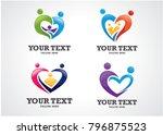 family love logo template... | Shutterstock .eps vector #796875523