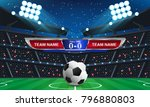 abstract sport soccer... | Shutterstock .eps vector #796880803